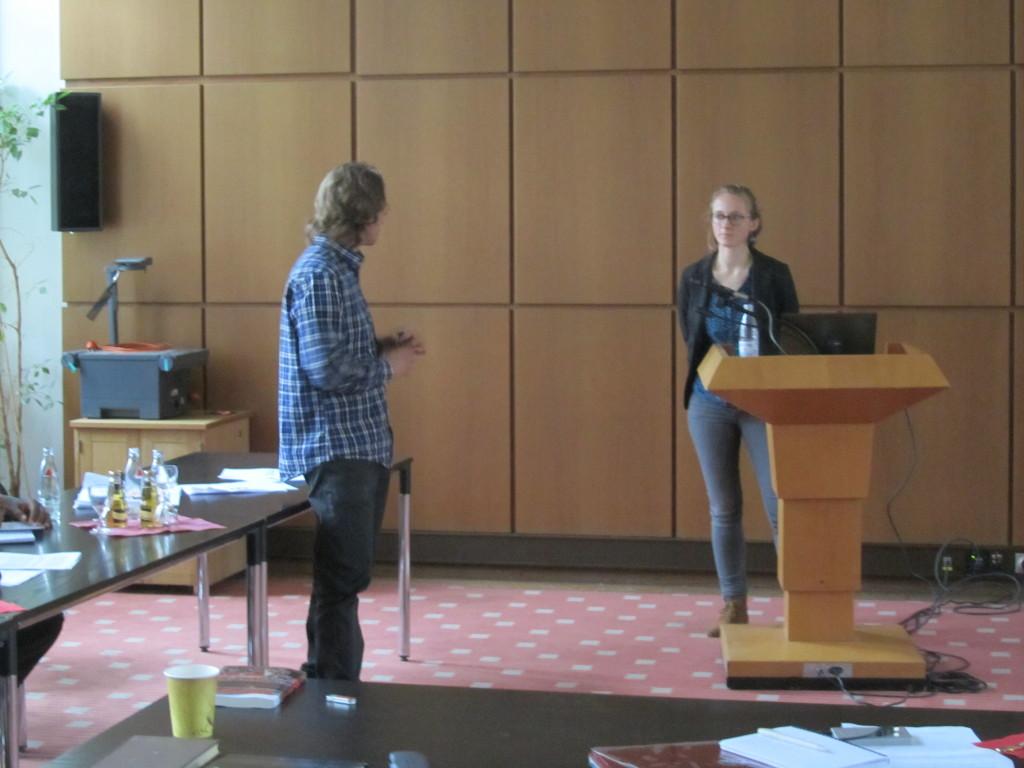 "Lowe Börjeson speaking with Johanna Kramm (RCR, University of Bonn), ""The changing face of irrigation governance in Kenya"""