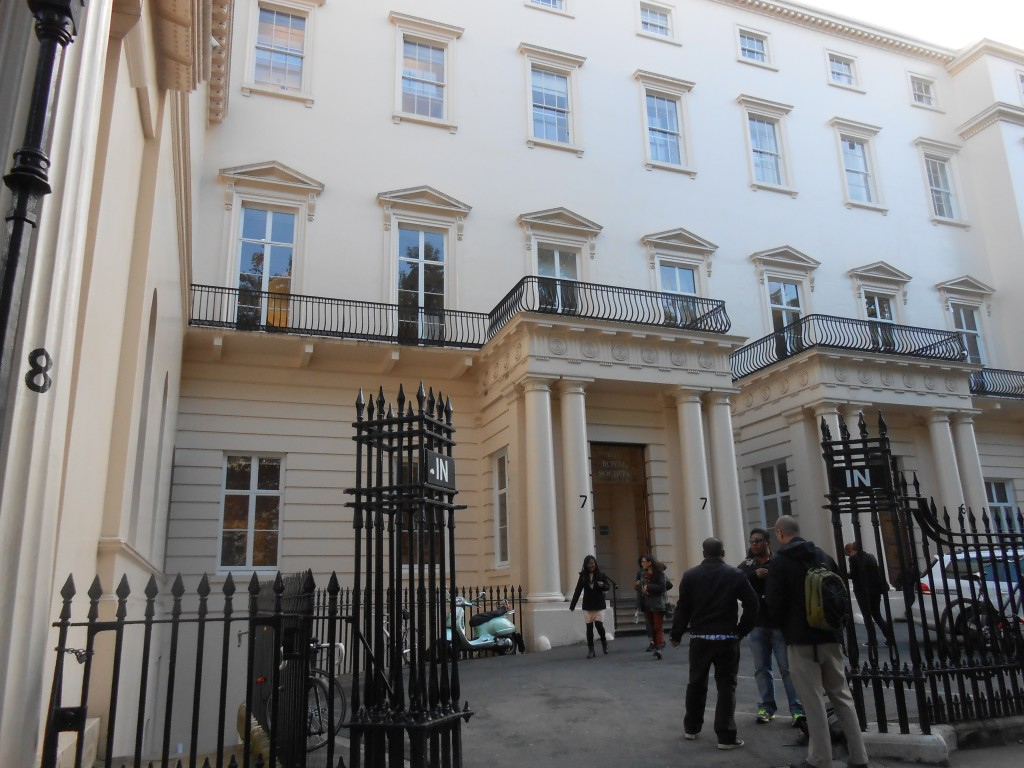 Entrance to the Royal Society.