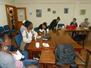 Videography discussions at the BIEA, Nairobi