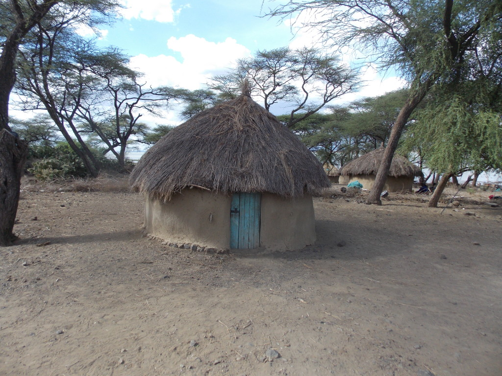 A typical Ilchamus house. The earthen structure at Oltioki likely resembled this house before it fell apart