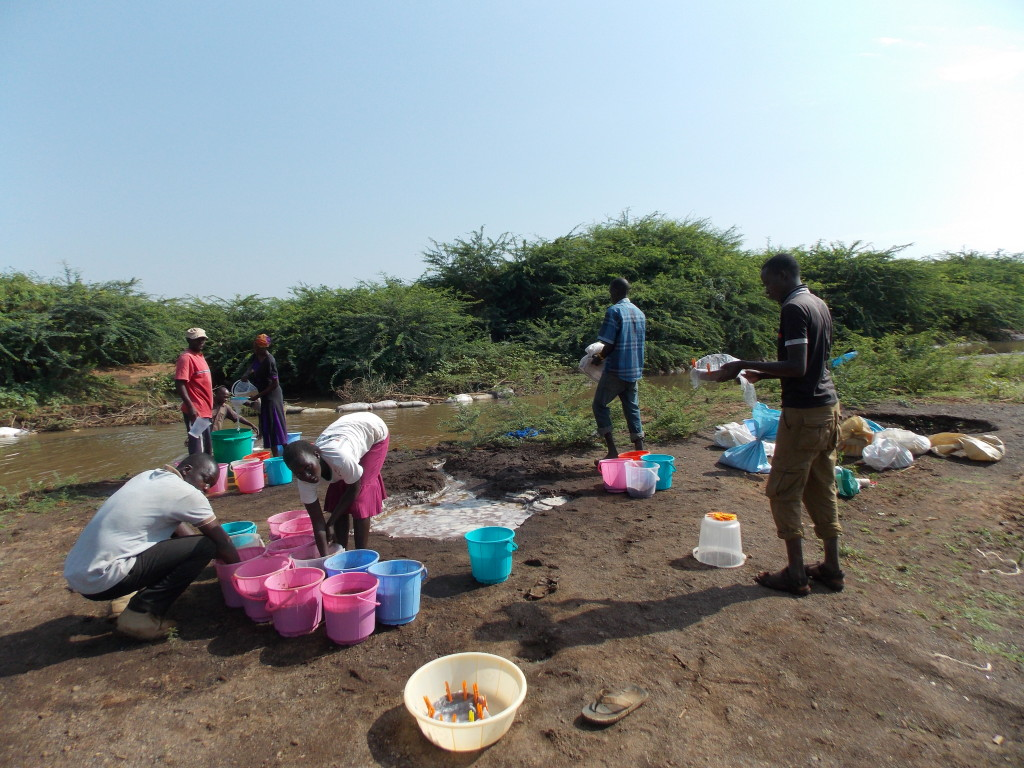 The team also undertook flotation at the Molo River next to the site